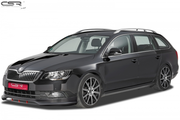 skoda tuning shop scheinwerferblenden f r skoda superb ii 3t facelift. Black Bedroom Furniture Sets. Home Design Ideas